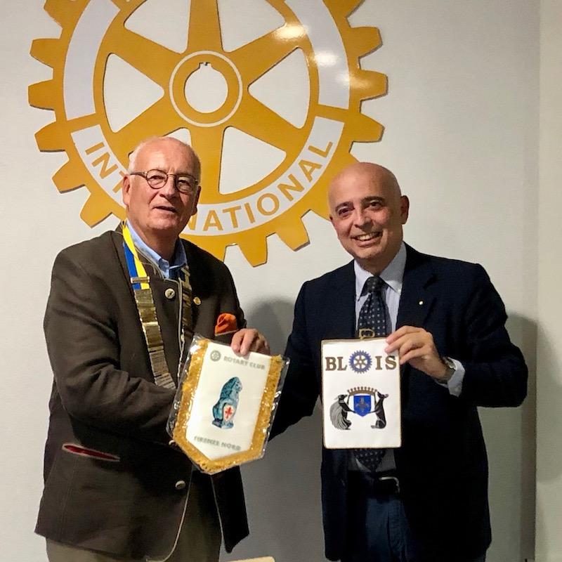 Incontro tra il Rotary Blois e il Rotary Firenze Nord