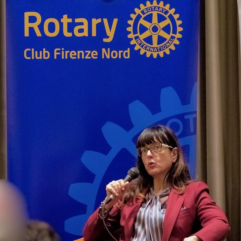 Marilena Rizzo, presidente del Tribunale di Firenze, al Rotary Firenze Nord