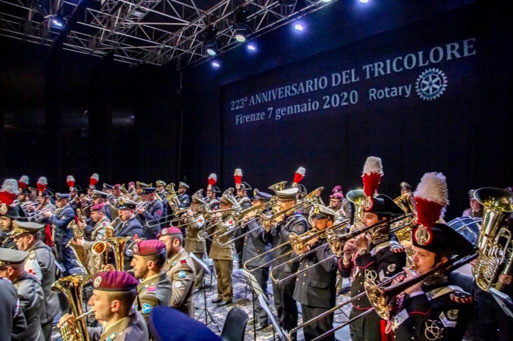 Il concerto interforze di fanfare e bande militari al Tuscany Hall Teatro la sera del 7 gennaio 2020