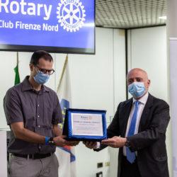 Un momento del premio 'Il valore del coraggio' del Rotary Firenze Nord